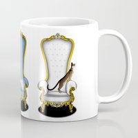 thrones Mugs featuring Cats on Thrones (2) by Vannina