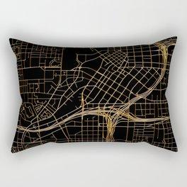 Black and gold Atlanta map Rectangular Pillow