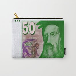 50 Old Swiss Francs Note - Front Carry-All Pouch