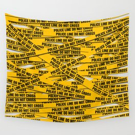 Police Line Wall Tapestry
