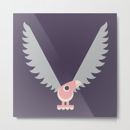 Letter V // Animal Alphabet // Vulture Monogram Metal Print