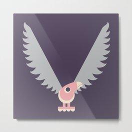 Letter V // Animal Alphabet // Vulture Monogram Metal Print