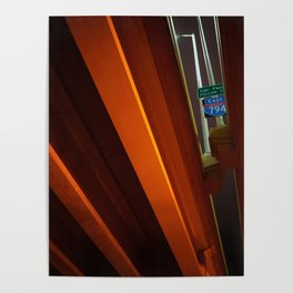 Milwaukee Freeway Bridge at Night 2 Poster