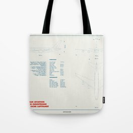 Airbus A380 plane technical drawing Tote Bag