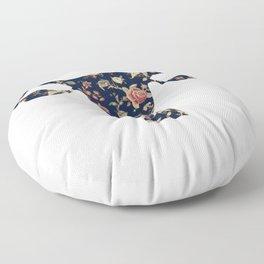 Floral Uterus Floor Pillow