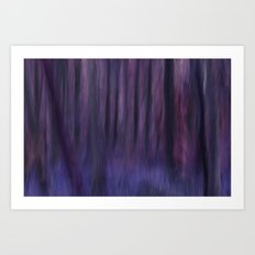 Painted Trees 2 Purples Art Print