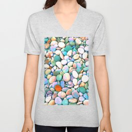 PEBBLES ON THE BEACH Unisex V-Neck