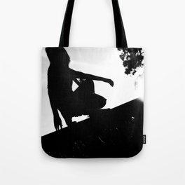 girl on a ledge Tote Bag