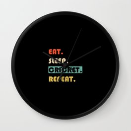 Eat Sleep Cricket Repeat Funny Sport Wall Clock