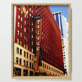 Vintage Chicago: historic Chicago theater photography Serving Tray