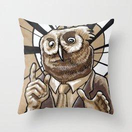 Owl-bama Throw Pillow