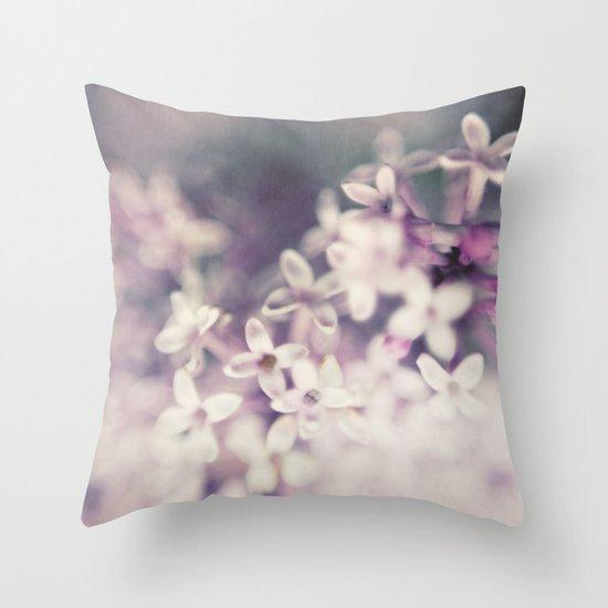 Lilac Haze Throw Pillow