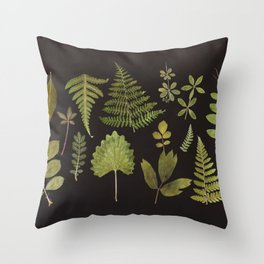 Plants + Leaves 5 Throw Pillow