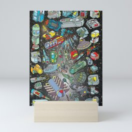 ALIEN SPACE DEBRIS 2 Mini Art Print