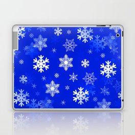 Light Blue Snowflakes Laptop & iPad Skin