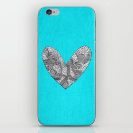Patterned Heart iPhone Skin