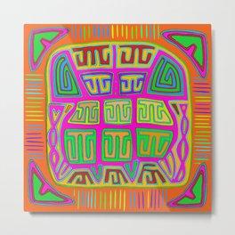 San Blas Indian Kuna Abstract Metal Print