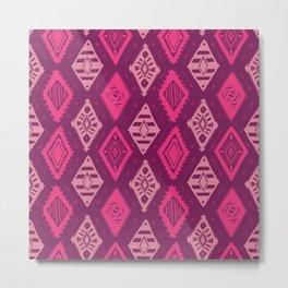 Pink Tribal Print Metal Print