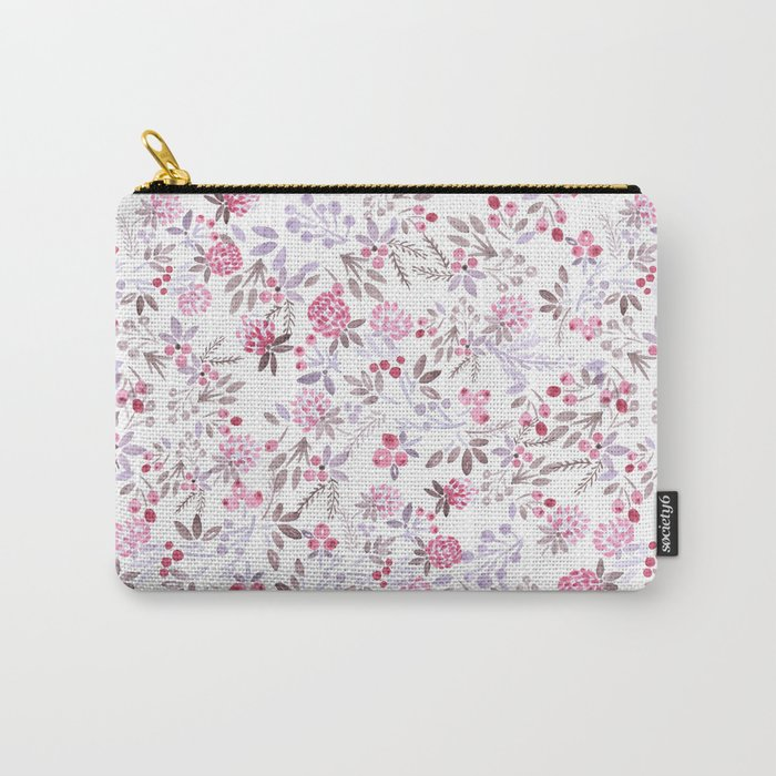 Watercolor floral pattern . Carry-All Pouch