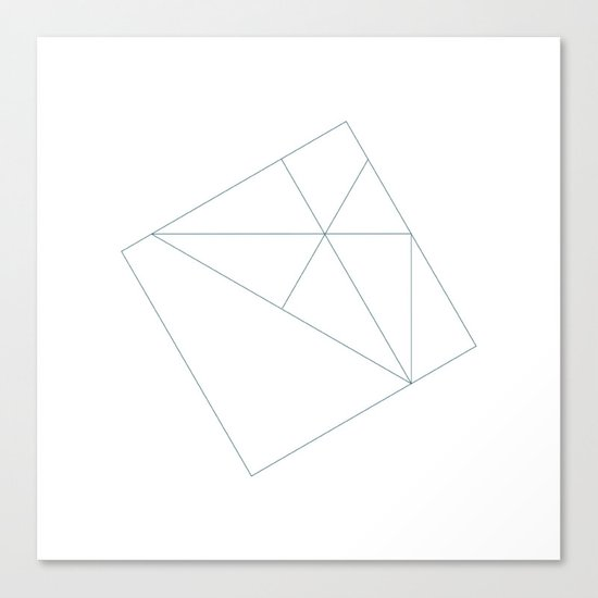 #167 Semi-permanent – Geometry Daily Canvas Print