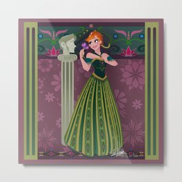 Frozen Anna Coronation Metal Print