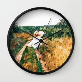 Free Spirit || #painting #nature Wall Clock