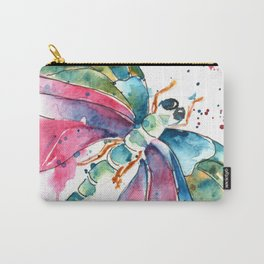 Vibrant Dragonfly Carry-All Pouch