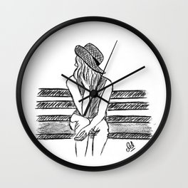 Alone time Wall Clock