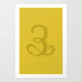 The Number 3 Art Print
