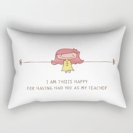 Happy Teacher Girl Rectangular Pillow