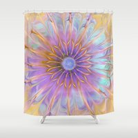fairies Shower Curtains featuring Flower of Fairies by Klara Acel