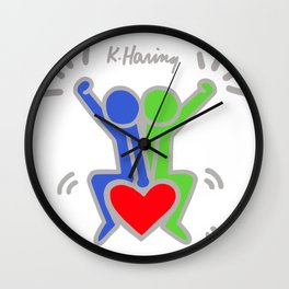 Love Each Other - Keith Haring Wall Clock