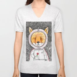 Le Petit Fox  Unisex V-Neck