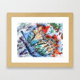 BUTTERFLY - Original abstract painting by HSIN LIN / HSIN LIN ART Framed Art Print