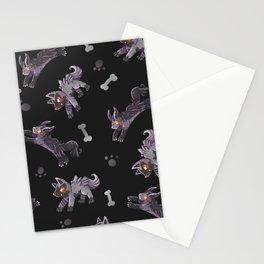 Poochyena & Mightyena pattern Stationery Cards