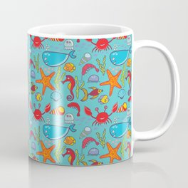 Cute Kids Ocean Sea Life Marine Pattern Coffee Mug