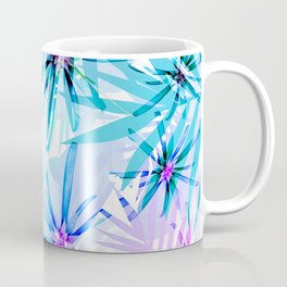 Flashy Colorful Tropical Flowers Design Coffee Mug