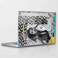 kate moss Laptop & iPad Skins featuring KATE MOSS TRIBE by Vasare Nar