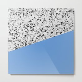 Granite and Little Boy Blue Color Metal Print