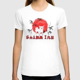 Red Sun Shiba Inu T-shirt