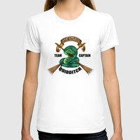 quidditch T-shirts featuring Slytherine quidditch team captain by JanaProject