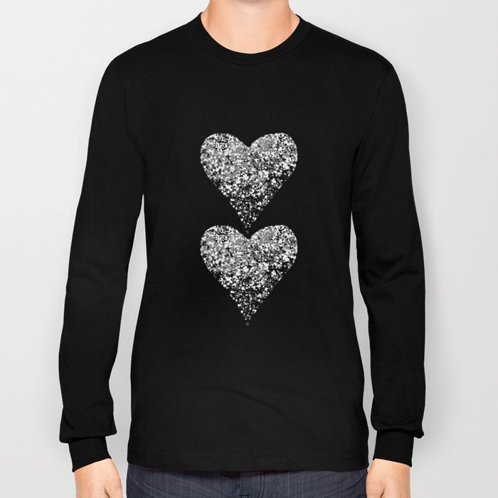 two sparkling hearts Long Sleeve T-shirt