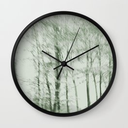 Windy woods (green) Wall Clock