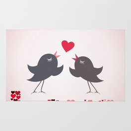 Bird of love Rug