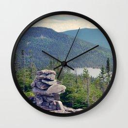 inukshuk - Parc National de la Gaspésie (Québec, Canada) Wall Clock