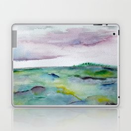 """""""337"""" abstract watercolor landscape Laptop & iPad Skin"""