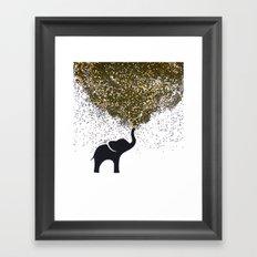 elephant w/ glitter Framed Art Print