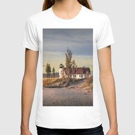 Point Betsie Lighthouse at Sunset T-shirt