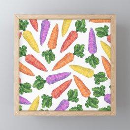 Multicolor Carrots Framed Mini Art Print