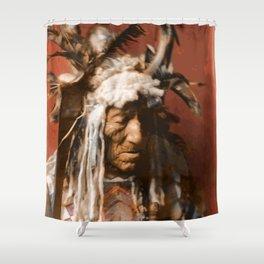 Lean Wolf - Hidatsa - American Indian Shower Curtain